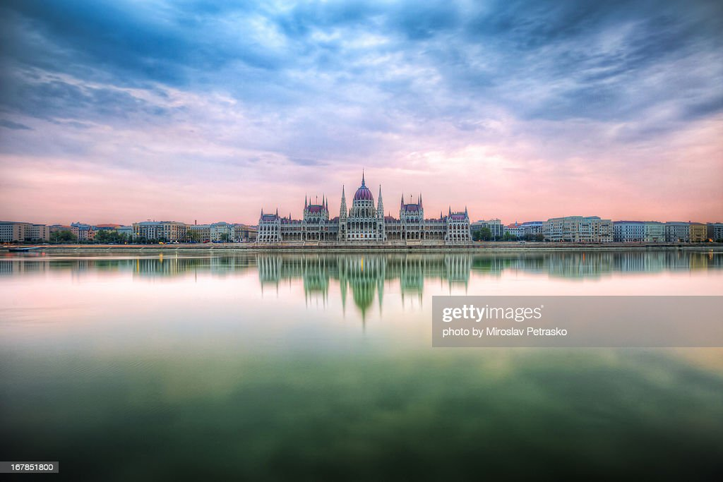 Sunrise by the Hungarian Pariliament