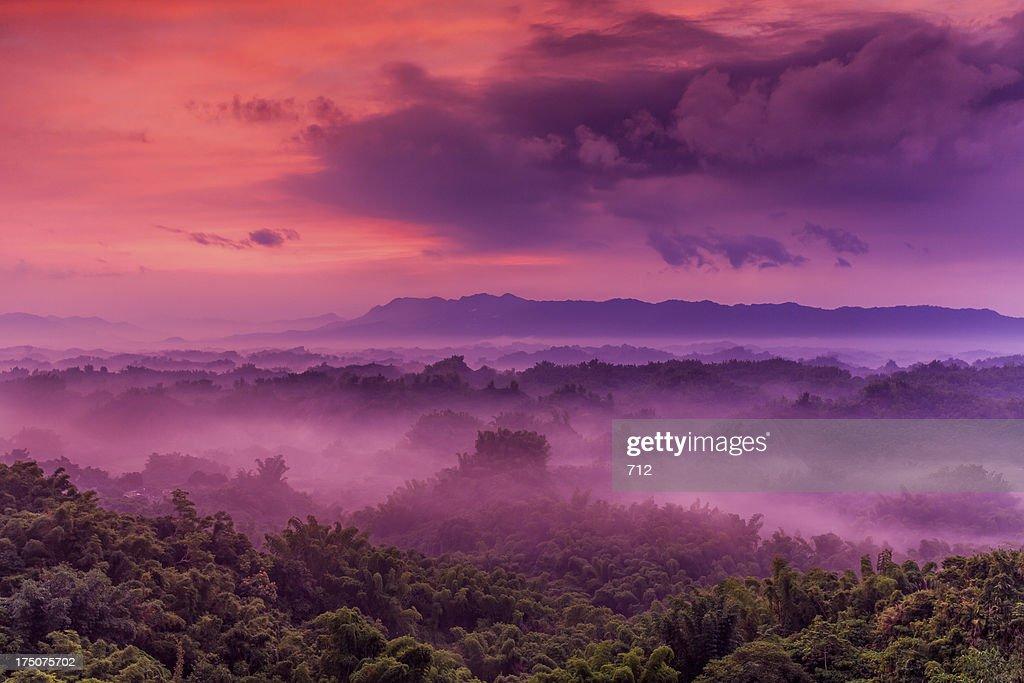 Sunrise clouds sea : Stock Photo