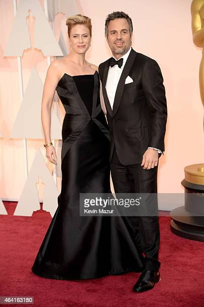 Sunrise Coigney and actor Mark Ruffalo attend the 87th Annual Academy Awards at Hollywood Highland Center on February 22 2015 in Hollywood California