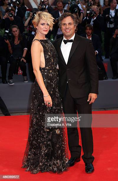 Sunrise Coigney and actor Mark Ruffalo attend the premiere of 'Spotlight' during the 72nd Venice Film Festival on September 3 2015 in Venice Italy