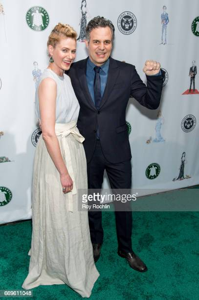 Sunrise Coigney and Mark Ruffalo attend the 2017 Turtle Ball at The Bowery Hotel on April 17 2017 in New York City