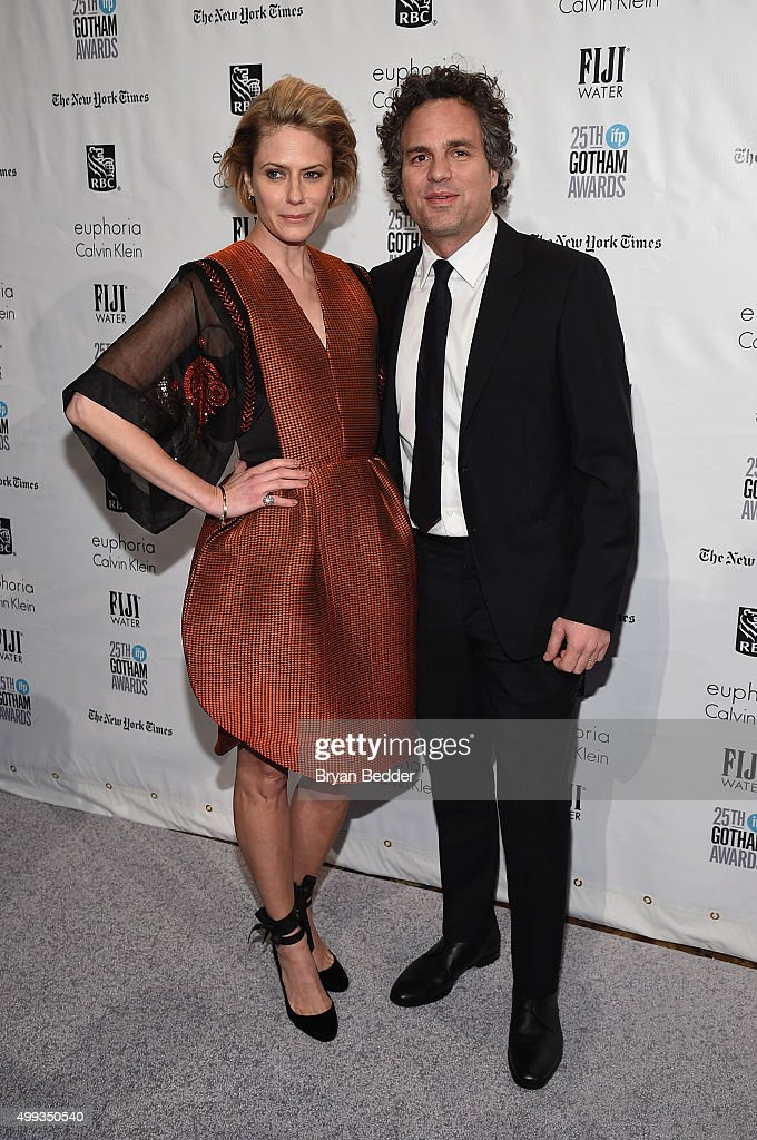 Sunrise Coigney and Mark Ruffalo attend the 25th IFP Gotham Independent Film Awards cosponsored by FIJI Water at Cipriani Wall Street on November 30...
