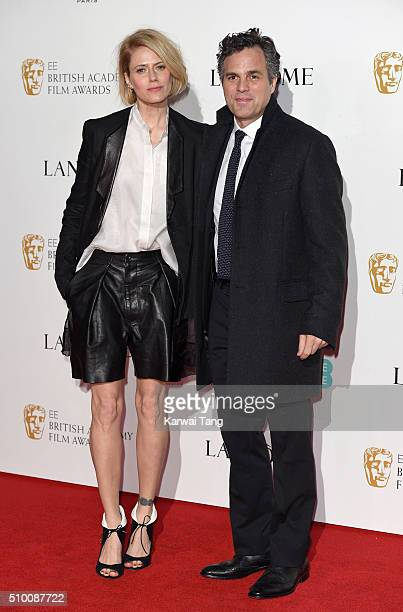 Sunrise Coigney and Mark Ruffalo attend the Lancome BAFTA nominees party at Kensington Palace on February 13 2016 in London England