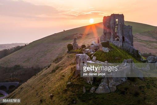 Sunrise, Corfe Castle, Dorset, England