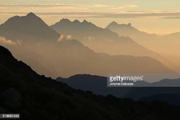 Sunrise From Alps Near Chamonix