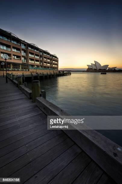 Sunrise from Sydney Opera house.