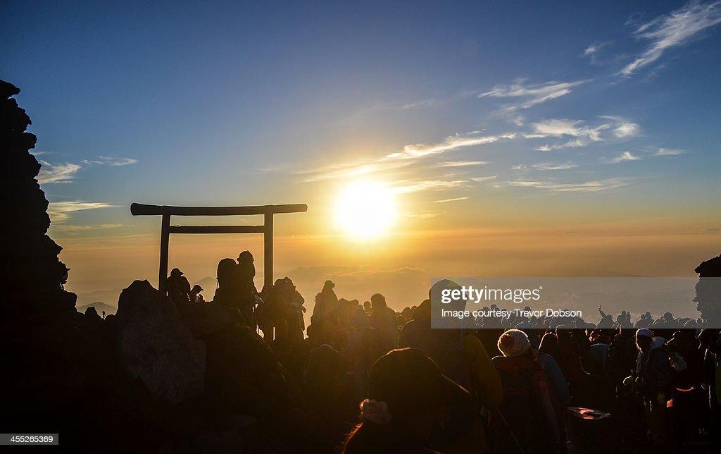 Sunrise from the Summit of Mt Fuji