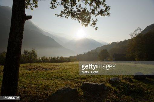 Sunrise in alps