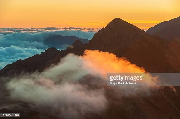 Sunrise in Balkan mountains, Bulgaria