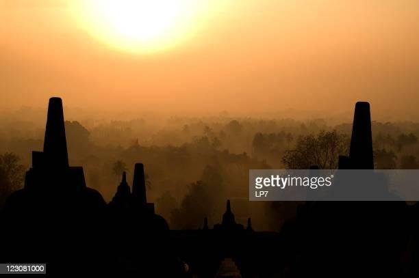 Sunrise in Borobudur Java Indonesia