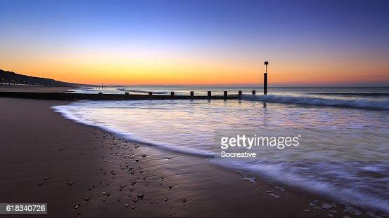 Sunrise in Bournemouth : Stock Photo