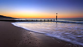 Early morning at Boscombe Beach, Bournemouth, Dorset.