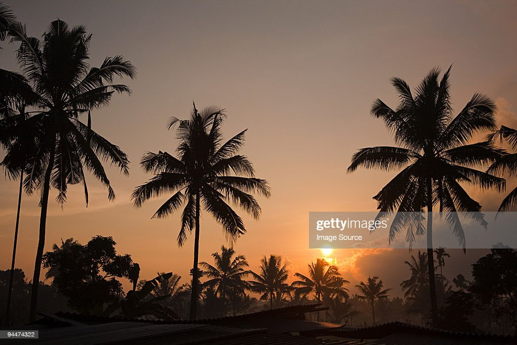 Sunrise in lombok indonesia : Stock Photo