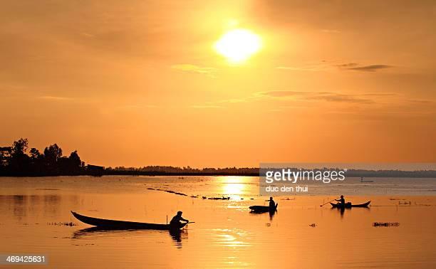 Sunrise in Mekong River, Viet Nam