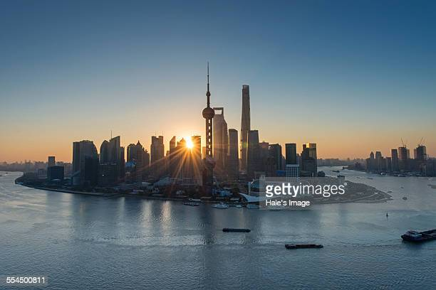 Sunrise in Shanghai, China