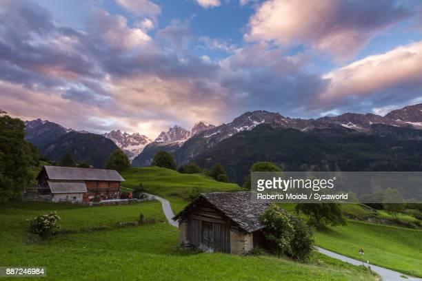 Sunrise in Soglio, Switzerland