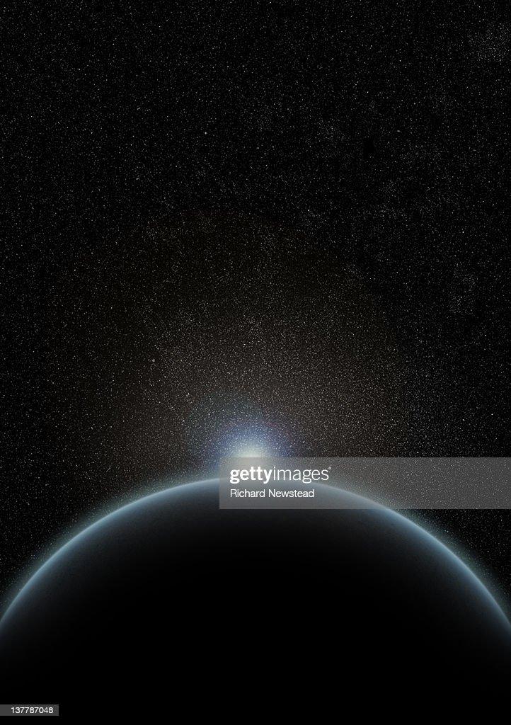 Sunrise in Space : Stock Photo