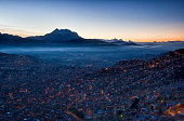 Sunrise in the capital of Bolivia, La Paz