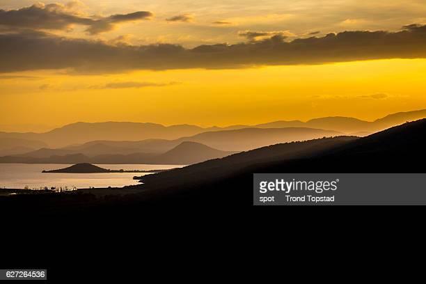 Sunrise in the Rift Valley, Ethiopia.