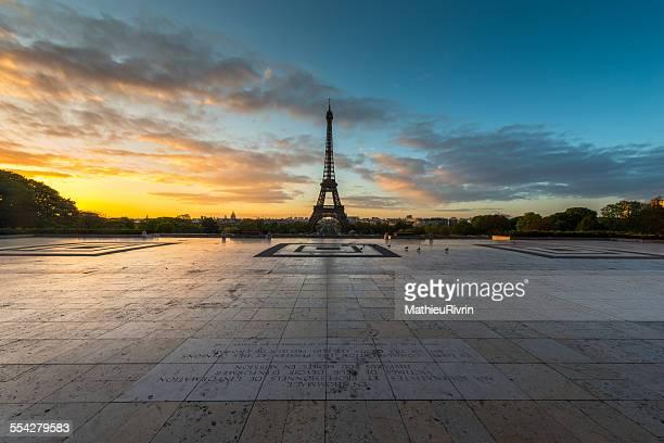 Sunrise in Trocadéro