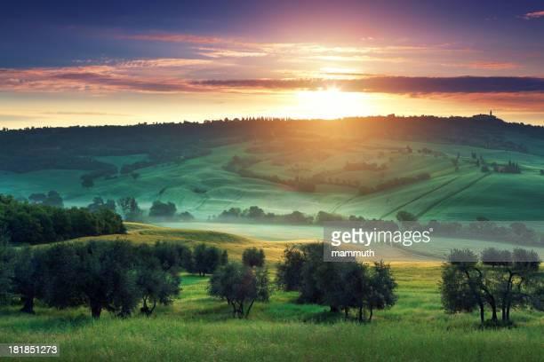 Sunrise en Toscana