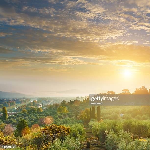 Sunrise in Tuscany