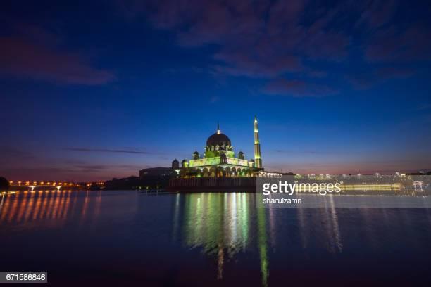 Sunrise moment  at Putra Mosque, Putrajaya of Malaysia