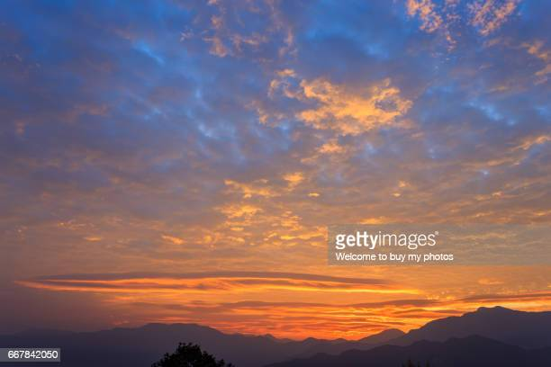 Sunrise of Alishan National Scenic Area, Chiayi, Taiwan