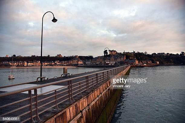 Sunrise of Cancale city Bretagne France