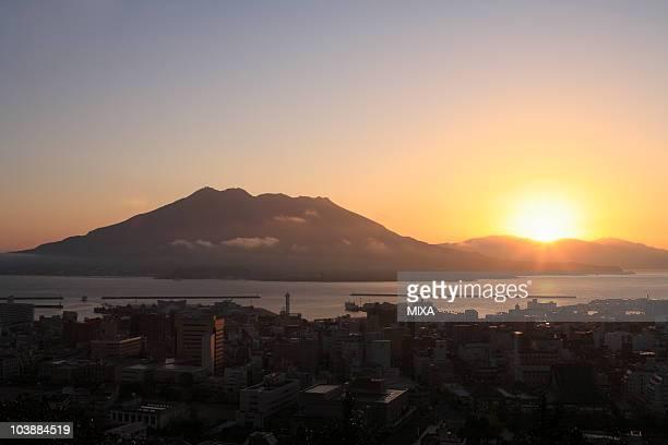Sunrise of Sakurajima, Kagoshima, Kagoshima, Japan