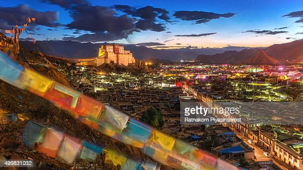 Sunrise of Shigatse monastery in Tibet