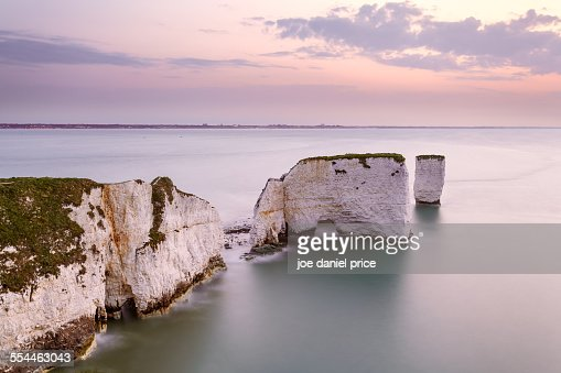 Sunrise, Old Harry Rocks, Swanage, Dorset, England