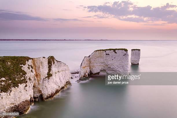 Sunrise, Old Harry Rocks, Swanage, Dorset, England