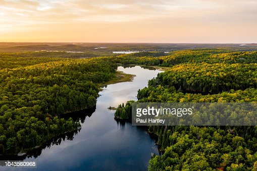 Sunrise on a lake : Stock Photo