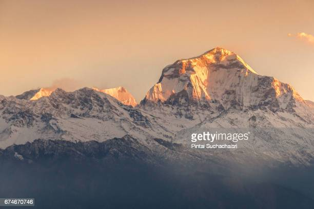 Sunrise on Annapurna Mountain from Poon Hill, Nepal