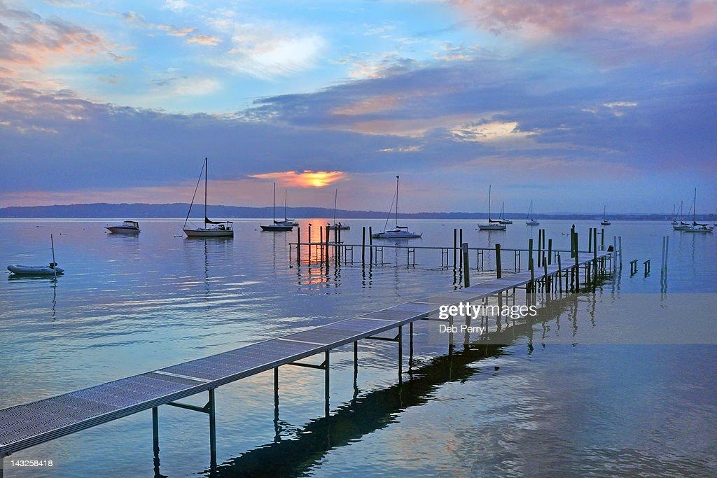 Sunrise on Grand Traverse Bay
