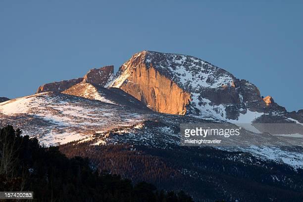 朝日ロングズピークの顔コロラドロッキー山脈国立公園
