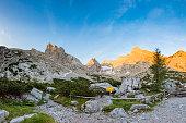 Berchtesgaden national park, footpath to Mount Schärtenspitze