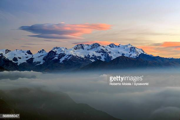 Sunrise on Mount Rosa Graian Alps Italy