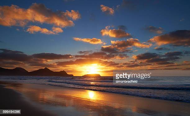 Sunrise On Porto Santo Beach