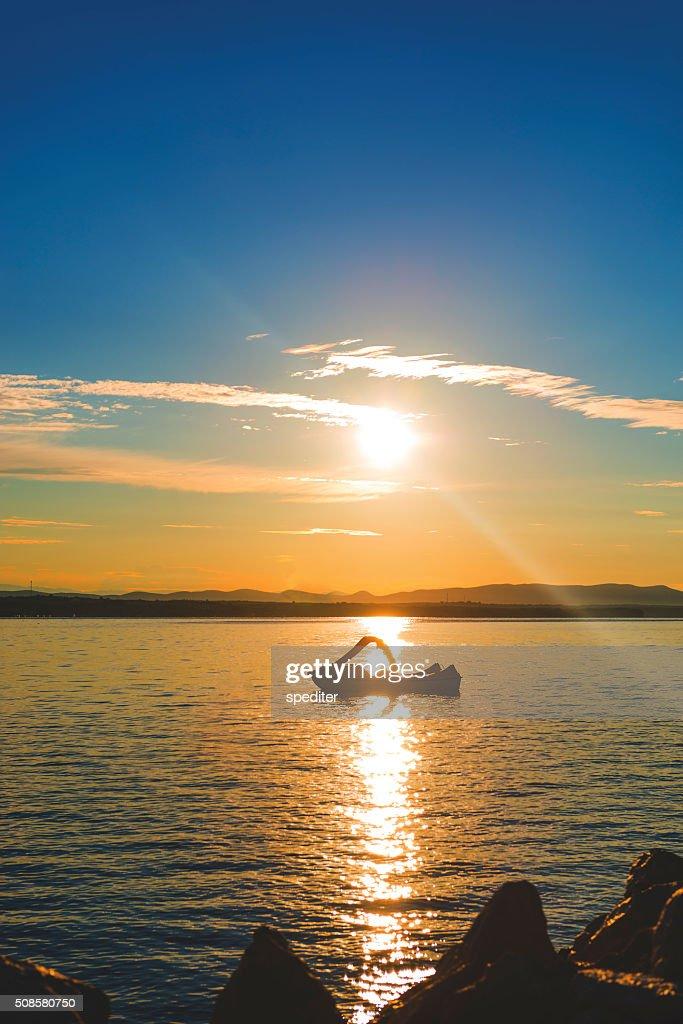 Sunrise on the beac : Stock Photo