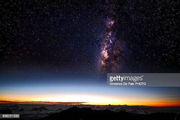 sunrise on the top of Haleakala