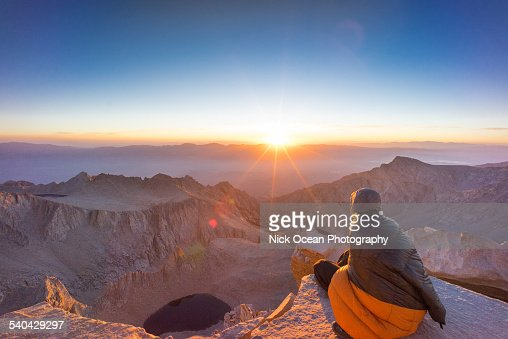 Sunrise on the top of Mount Whitney.