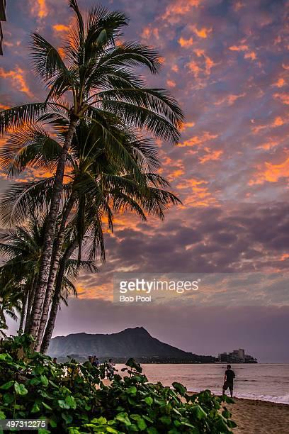 Sunrise on Waikiki Beach