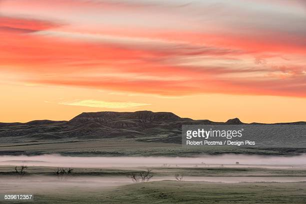 Sunrise over 70 Mile Butte, Grasslands National Park