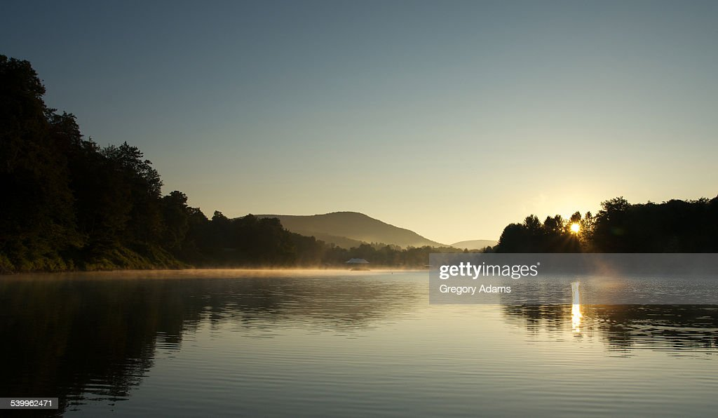 Sunrise over a Lake in the Catskill Mountains