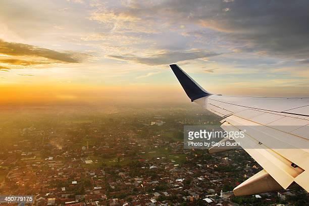 Sunrise Over Aeroplane Wing