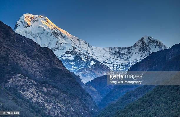 Sunrise Over Annapurna South and Hiunchuli