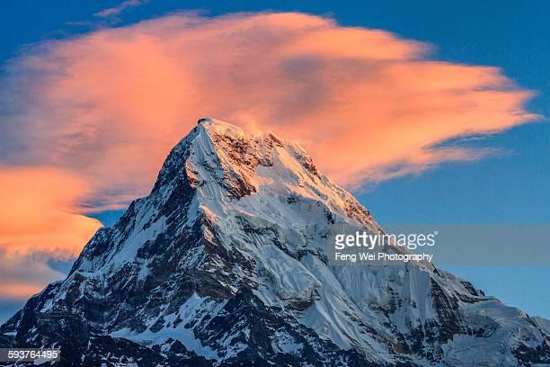 Sunrise over Annapurna South, Poon Hill, Nepal
