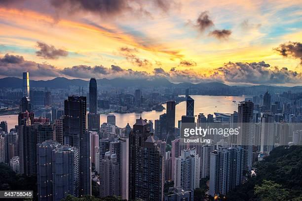 Sunrise over Central, Hong Kong